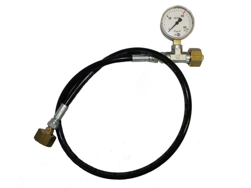 Umfüllschlauch für Stickstoff mit Manometer - 1 m