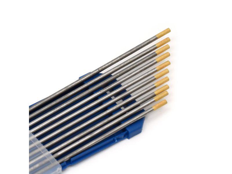 Wolfram Elektroden Gold 1,0 mm x 175 mm 10 Stück